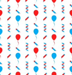 Seamless texture for independence day of america vector