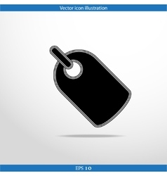 Label web flat icon vector