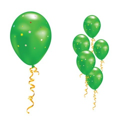 green party balloons vector image