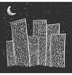 hand-drawn city vector image