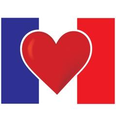 heart france flag vector image