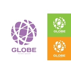 Abstract earth logo globe logo icon vector