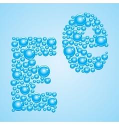 Bubbles in blue alphabet of bubbles eps 10 vector