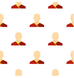 Buddhist monk pattern flat vector