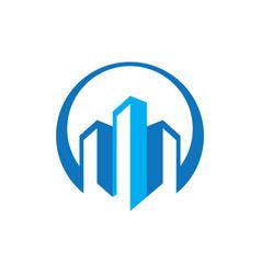 Buildings real estate logo image vector