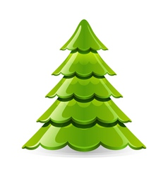 Christmas glossy tree vector