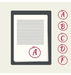 Clipboard with exam papers vector