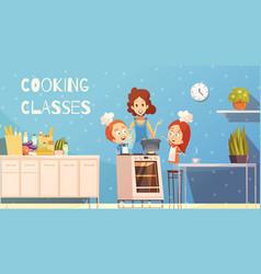 Cooking classes for children vector