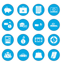 Credit set icon blue vector