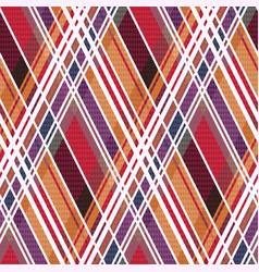 diagonal tartan seamless texture mainly in warm vector image