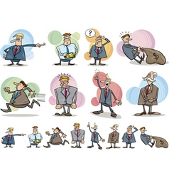 funny businessmen set vector image