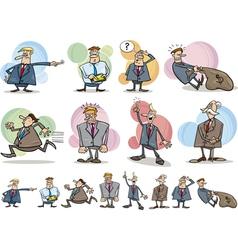 funny businessmen set vector image vector image
