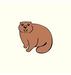 Funny marmot animal rodent vector