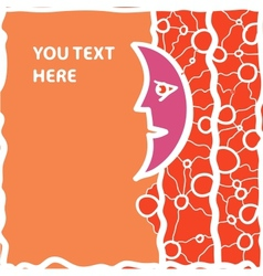 Half Moon Orange vector image vector image