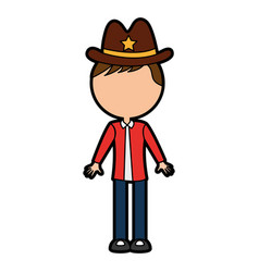 Male sheriff avatar character vector