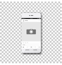 Phone with social network photo frame vector