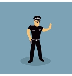 Profession police character design flat vector