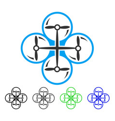 Quad copter flat icon vector