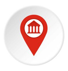 Red map pin icon circle vector
