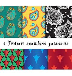 Seamless indian patterns set vector