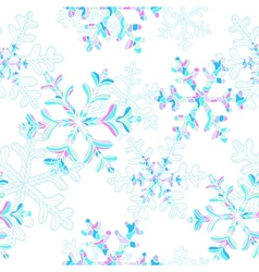 seamless pattern with falling snowflakes vector image