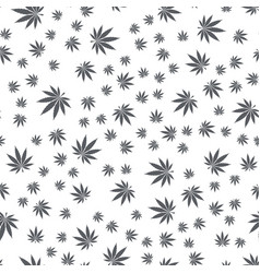 Seamless texture marijuana black vector