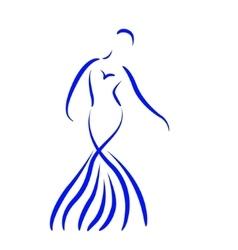 Sketched dancing girl vector image vector image
