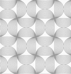Slim gray striped semi circles vector