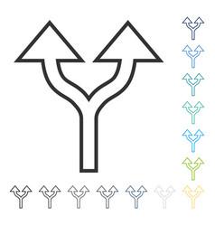 Split arrows up icon vector