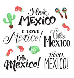 viva mexico wording vector image vector image
