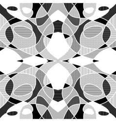 White and black geometric mosaic background with vector