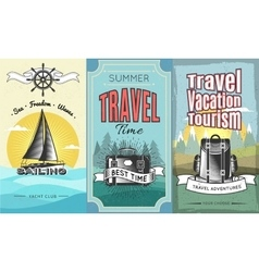 Expeditions vertical banner set vector