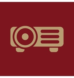 The projector icon presentation symbol flat vector