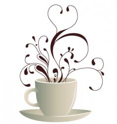 coffee art vector image