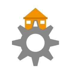 real estate gear symbol vector image