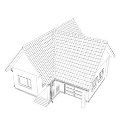 Cottage on the white background vector