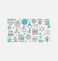 Chemistry concept banner vector