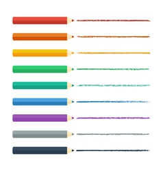 Colored pencils bright colorful set vector
