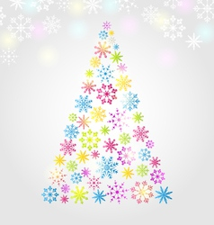 Christmas pine made of colorful different vector