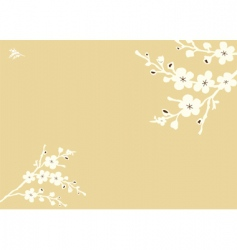 blossom background vector image