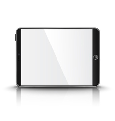 Dark modern tablet computer with blank screen vector
