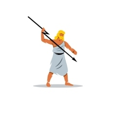 Zeus sign in greek mythology king of gods vector