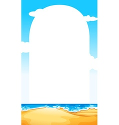 Border with ocean scene background vector