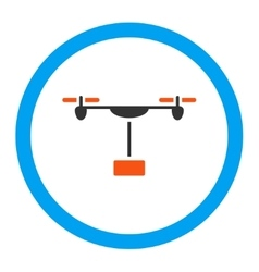 Drone shipment rounded icon vector