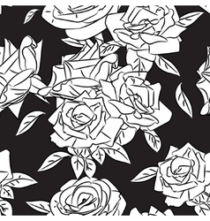 Rose blooms seamless pattern vector