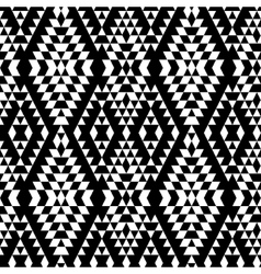 Black and white aztec striped ornaments geometric vector image