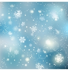 Christmas winter snowflake background vector