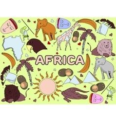 Africa line art vector