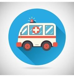 Ambulance car Icon Health Treatment Symbol on vector image vector image