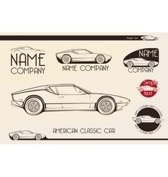 American classic sports car silhouettes vector image vector image